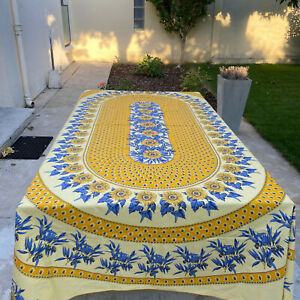 French Provencal Tablecloth oliv yellow sunflowers large rectangular 30012127