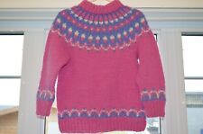 Icelandic pullover,Icelandic hand knitted,Pink sweater,Lopapeysa,size XS , Nice