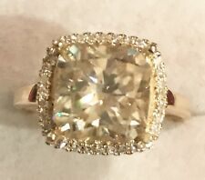 Huge 3CT Radiant Cut Moissanite Diamond Engagement Ring 10K Yellow  Gold