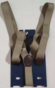 Club Room Men's Khaki Green Suspenders One Size Width 32mm Adjustable $39.50
