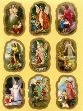 Schutzengel Religiöse Aufkleber  9 Religious Stickers Taufe Kommunion AKL 1062