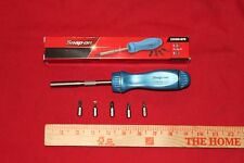 Snap On Tools Screwdriver Pear Blue Hard Handle Ratcheting  Brand New