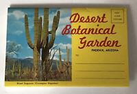 Desert Botanical Garden Phoenix Arizona Postcard Booklet 12 Images Pullout