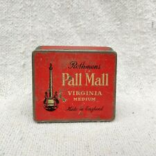 Vintage Rothmans Pall Mall Virginia Medium Cigarette Advertising Tin Box England