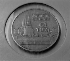 Thailandia 1 BAHT 1994 moneta di rame-nichel-RAMA IX-Phra kaew Temple, BANGKOK