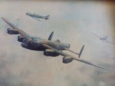 Framed Print of 1945 AVRO LANCASTER Military Aircraft by Alfred E Clarke b.1928