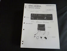 ORIGINALI service manual KENWOOD krc-353d/l