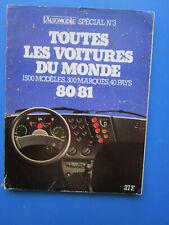 """L'Automobile """" TOUTES LES VOITURES DU MONDE """"  1980-1981  Hors-Série  N° 3"""