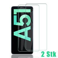 2x Samsung Galaxy A51 Schutzglas Panzerfolie Displayschutzfolie 9H Hartglas