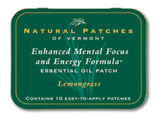 Natural Patches of Vermont Mental Focus & Energy, Lemongrass ~ 10 patch tin