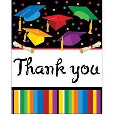 """Graduation Fest Thank you notes 8 ct """"Grad Party"""""""