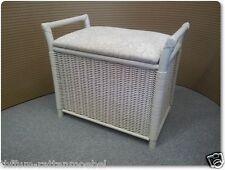 50 cm de ratán blanco cesta para la ropa de lavado para la ropa para los coleccionistas ropa limpia cesto waschkorb