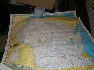1969 WISCONSIN STATE  SCHOOL MAP Heavy paper 40 by 44 inches Senator Cirilli