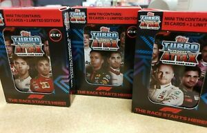 Topps F1 Turbo Attax 2020 Trading Cards Game Mini Collector's tins 35 cards + LE