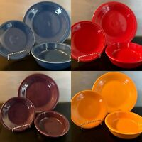 Fiesta Fiestaware 3 Pc Place Setting Dinnerware Colors Red /Scarlett Only Left