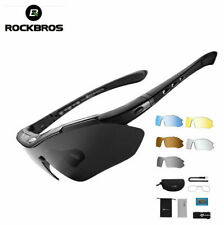 RockBros Polarized Bike Cycling Glasses Riding Goggles Sunglasses UV400 5 Lens