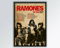 RAMONES REIMAGINED 1977 UK  Tour Poster A3 size.