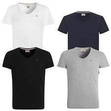 Tommy Hilfiger Denim Panson V-Neck T-Shirt Black Navy White Grey Various Sizes