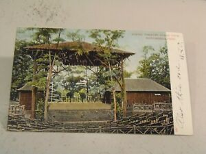 Rustic Theatre, Stage View, Norumbega Park, Auburndale, Mass.,  Postcard 5/12/21