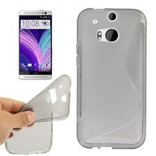 TPU Case Wave Schutzhülle in grau für HTC One 2 (M8) Handyhülle Schutzcase