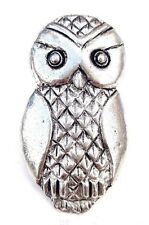 Stylised Owl Finely Handcrafted in Solid Pewter in Uk Lapel Pin Badge