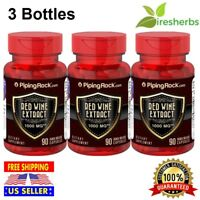 RED WINE EXTRACT 1000mg Cardiovascular Immune Antioxidant Supplement 270 Capsule