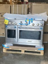 "Monogram Open Box 48"" Dual Fuel Range with 6 Burners and Griddle Zdp486Ndnss"