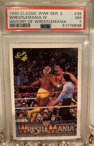 1990 Classic WWF Series 2 Wrestlemania IV Hulk Hogan Andre #39 PSA 7 POP 2
