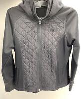 FILA Sport Black Jacket Coat Full Zip Pockets Size M