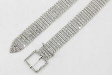 Silver Full Rhinestone Diamante/Diamond Ladies Waist Charm Fashion Belt - 568