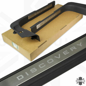 Discovery Sport front door scuff plates sill tread set brushed metal accessories