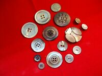 Antique /Victorian MOP ABALONE SHELL Buttons Sewing Collecting Mixed Lot