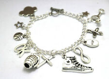 The Fault in Our Stars Inspired Charm Bracelet silver tone