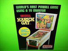 Universal HAREM CAT Original 1979 Flipper Game Pinball Machine Sales Flyer RARE