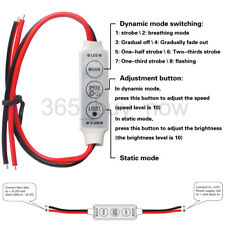 Car 12V 72W 9 Mode Memory Start Wired Control Module LED Strip Light Controller