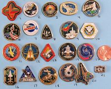 NASA enamel PIN lot of 21- vtg SPACE station SHUTTLE Columbia Atlantis - Group D