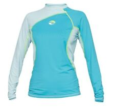 Bare Womens Long Sleeve Watershirt Rash Guard 50+ SPF UV Protection BLUE XL