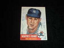 1953 Topps Whitey Ford Baseball Card-NY Yankees-#207-VG-EX/EX