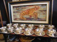Bols à Caviar et Assiettes en Argent Massif Silver Silber