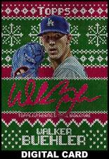 Topps BUNT Walker Buehler Sweater Signature 12 DAYS OF TOPPS [DIGITAL CARD]