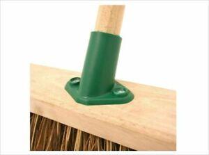 HEAVY PLASTIC YARD BROOM BRUSH HANDLE SUPPORT  REPLACEMENT BRACKET IN UK GREEN