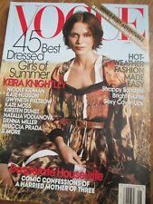 VOGUE US 6/2007 Keira Knightley ARTHUR ELGORT Testino LAPO ELKANN Doutzen Kroes