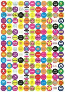 1000 Children's Reward Stickers Chart Kids Teacher School Star Well Done