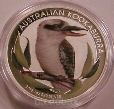 "2012 AUSTRALIAN KOOKABURRA BIRD 1 oz. SILVER COLORIZED COIN ""BU"""