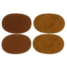 2 Pairs Sew On Suede Oval Elbow Knee Patch Sweater Repair Crafts Brown/Camel
