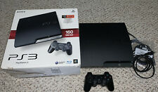Sony Playstation 3 PS3 Slim 160GB CECH-2501A Console Lot Original Box System