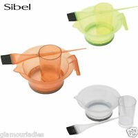 Sibel 3pcs Tinting Set Hair Dying Professional Salon Use - Clear, Orange, Green