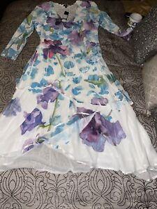 KOMAROV  Floral Print  Dress  (size XL)