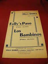 Partition Folly's Paso Los Bambinos Albert Baret Paso Doble