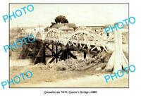 OLD LARGE PHOTO OF QUEANBEYAN NSW QUEENS BRIDGE c1880